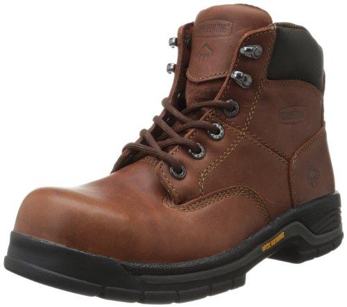 WOLVERINE Unisex Harrison Steel Toe Safety Boot-W, Brown, 10 Wide US...