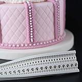 Fewear Molde de silicona con cuerda de perlas para fondant, herramienta para decoración de tartas, chocolate, pasta de gomas, azúcar, accesorios de cocina