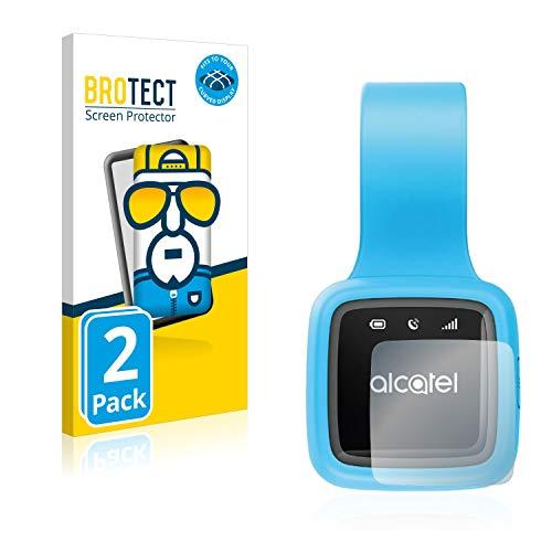 BROTECT Protector Pantalla Completa Compatible con Alcatel GPS Move Tracker (2 Unidades) 3D Curvo