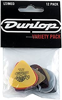 Dunlop PVP101 Pick Variety Pack, Assorted, Light/Medium, 12/Player's Pack