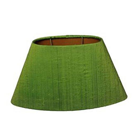 Lampenschirm Oval Seide Grün TL 24-14-14