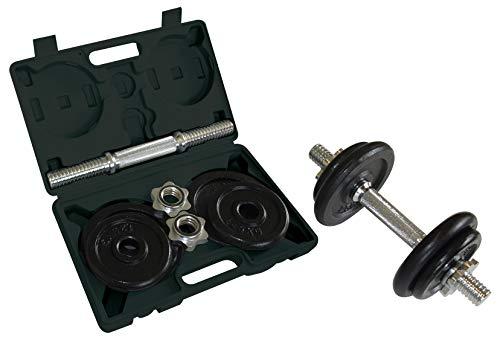Schildkröt Fitness 10kg Kurzhantel-set 10 Kg 4-teilig Im Koffer, schwarz, M