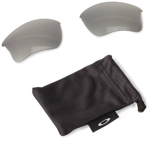 Oakley Men's Flak Jacket XLJ Sunglasses Replacement Lenses, Black Iridium Polarized, 63 mm