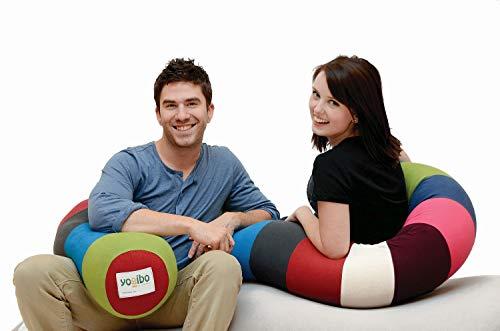 Yogibo キャタピラー ボディロール枕 腰サポートと快適性 柔軟 ロング U型ビーンバッグ 明るい