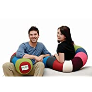 Yogibo Caterpillar Body Roll Pillow, Provides Excellent Back Support and Comfort, Flexible, Long, U-Shaped Bean Bag, Bright