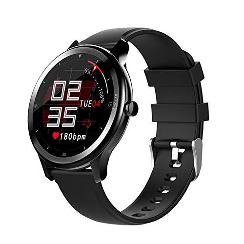 LJMG Reloj Inteligente, G28, Reloj Inteligente Electrónico De Hombres Deportivos, Adecuado para Android iOS Fitness Tracker, Tiempo Cronómetro, Smartwatch,A
