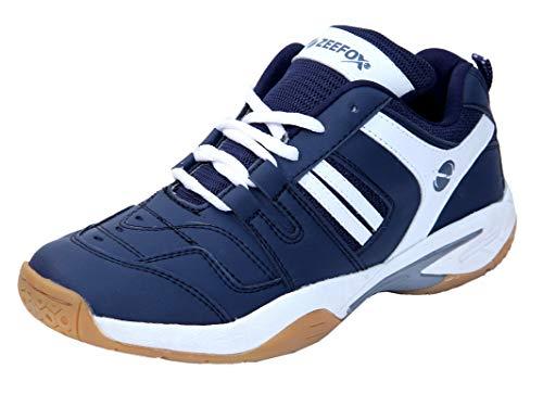 ZEEFOX Ryder Men's (Non-Marking) PU Badminton Shoes Navy Blue