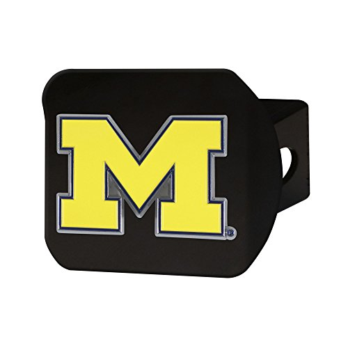 FANMATS NCAA Michigan Wolverines University of Michigancolor Hitch - Black, Team Color, One Size