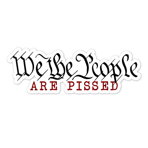 Bargain Max Decals We The People are Pissed Window Laptop Car Sticker 6'