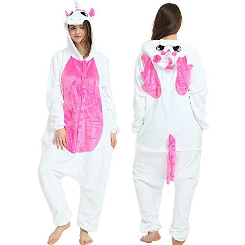YQ&TL Pijamas cómodos Unisex para Hombres y Mujeres, Mono de Animal Suave para niños, Disfraz de Disfraces, Carnaval de Halloween H M