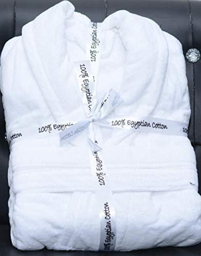 Elegant Textiles - Albornoz de baño (100% algodón Egipcio, Toalla de Rizo Gruesa, Unisex)