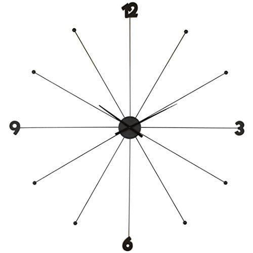 Kare Design - 61805 Orologio da parete Umbrella, nero, metallo