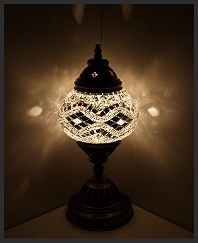 Mosaiklampe Mosaik - Tischlampe M Stehlampe orientalische lampe Silber Samarkand-Lights