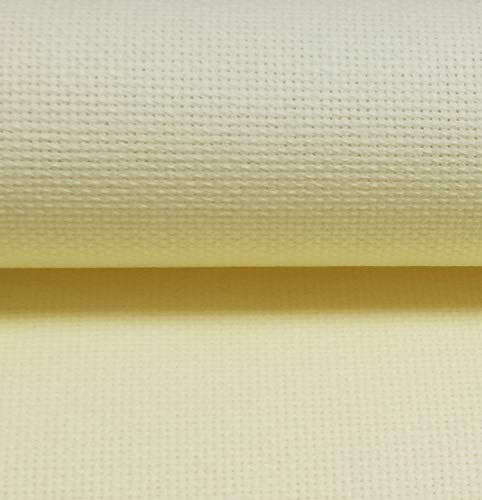 "19"" x 28"" 18CT Counted Cotton Aida Cloth Cross Stitch Fabric (Light Lemon)"