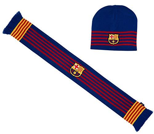 Fc Barcelone Coffret Bonnet + écharpe Barca - Collection Off