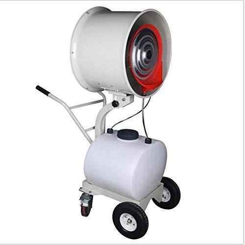 FUFU Climatizadores evaporativos Ventilador de nebulización al aire libre, refrigeración, nebulización, limpieza de polvo, humidificación Función de oscilación con ruedas de 90 ° Ideal para locales co