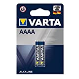 Pila de alcalina VARTA Electronics AAAA, paquete de 2 unidades