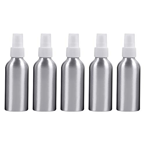 Beauté et soins personnels 5 bouteilles en verre rechargeables de brume fine de PCS pulvérisateur en aluminium, 120ml Bouteille de cosmétiques (Couleur : Blanc)