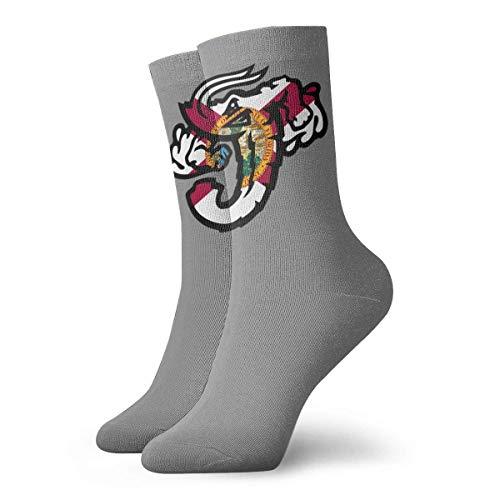 artyly Chaussettes de drapeau de la Floride aux crevettes géantes pour hommes Chaussettes habillées de football athlétique pour femmes