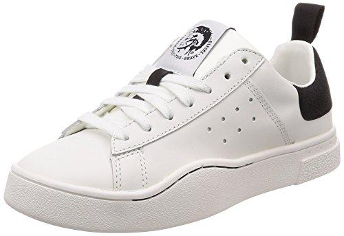 Diesel Damen S-clever Low W Sneaker, Mehrfarbig (White/Black H1527-P1729), 35 EU