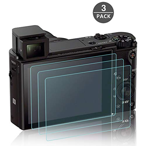 Bildschirmschutzfolie für Sony RX100III RX100II RX100 IV V RX 1R Kamera, masstimo 3 Pack gehärtetem Glas LCD Bildschirm Schutz Guard für Sony RX100III RX100II RX100 IV V RX 1R DSLR-Kamera