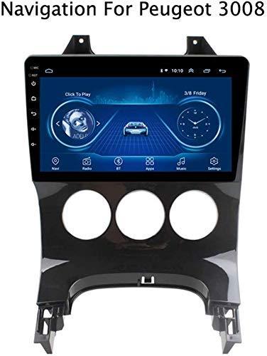 QWEAS Android 8.1 Auto-Stereo für Peugeot 3008 2009-2012, GPS Navigation 9 Zoll im Schlag Head Unit Einzel Din Autoradio Unterstützung volle RCA BT WiFi Mirrorlink