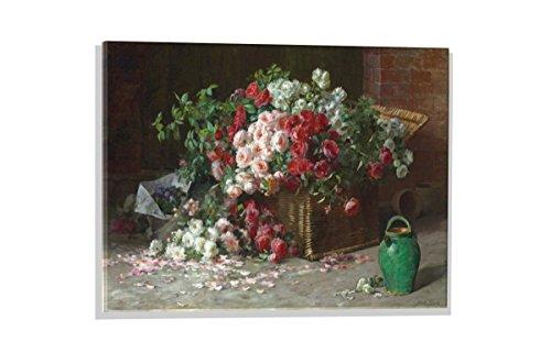 Kunst für Alle Image sur Verre: Abbott Fuller Graves EIN Korb mit Rosen, Image de Haute qualité, Impression d'art Brillante sur Verre Pur, 60x40 cm