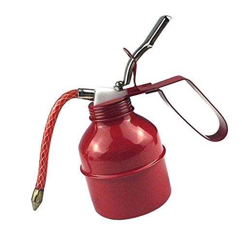Sharplace Bidon d'huile en Métal avec Bec Flexible Pompe Fluides Lubrification D'huile - Rouge 500cc