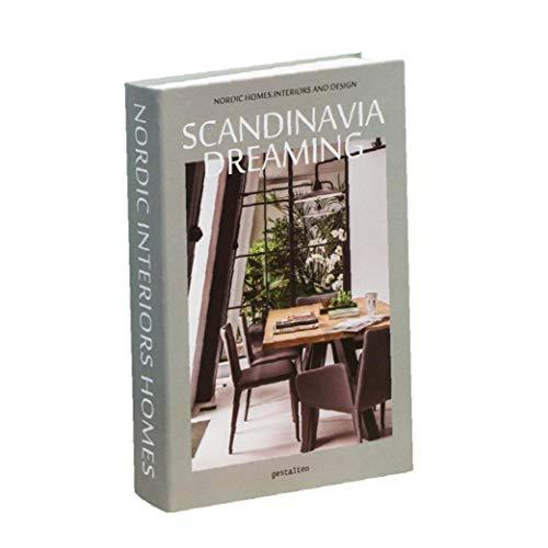 MICHAELA BLAKE Decorativo Libro nórdica Falso Moderna Simulación Blanco de la Manera Falsa Caja de Libro de Interior Prop Estante de exhibición