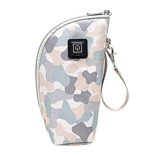 PUXING USB Baby Bottle Warmer, 5V Portable Car Travel Milk Bottle Warmer, BPA-Free, Keep Baby Milk Warm (Camouflage-2)
