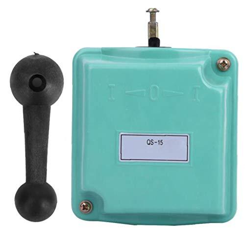 FeelMeet Interruptor de Tambor hacia Delante Fuera de Control de inversión Rotary CAM Arranque QS-15 para la monofásico Motor trifásico