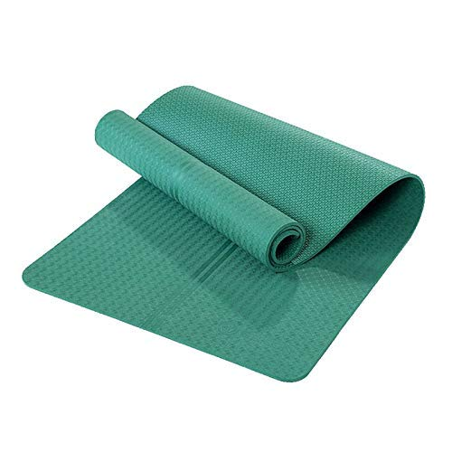 8bayfa Widen e la casa di Yoga insapore stuoie Sit-up di Formazione più Lunghi Principianti ispessite Antiscivolo Uomini e Donne di Fitness Tappetino Tappetino Yoga.1128 (Color : Dark Green)