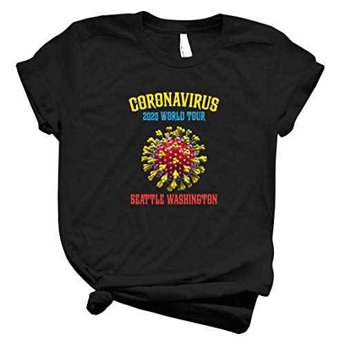 Cooronavirus 2020 World Tour Seattle Washington Tee For Men – Hot Vintage Retro Classic T Shirt For Women Córónávírús 2020 World Tour Best Tee Customi T Shirt 5065