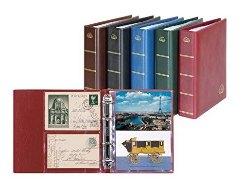 Album pour cartes postales «Postcard» LOTOS, Bleu, avec 50 feuilles (Lindner 5800-B)