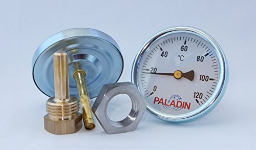 Paladin Räucherthermometer 120°C inkl. Edelstahl-Befestigungsmutter
