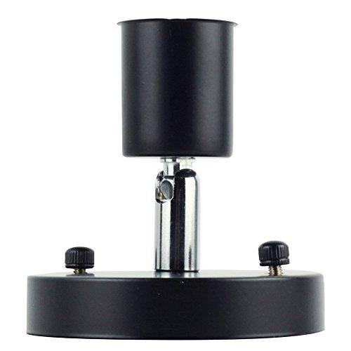 Rétro minimaliste plafonnier 1 ampoule réglable Direction Design Vintage simple Plafonnier éclairage lampe en fer pour plafond cuisine couloir Appartement Loft Galerie entrée Ø10 cm E27 Noir