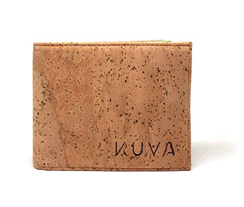Kork-Geldbörse, veganes Portemonnaie mit Münzfach & Sichtfach, nachhaltiger Geldbeutel Amizade Unisex, für Männer & Frauen (Kork Natur), RFID-Schutz