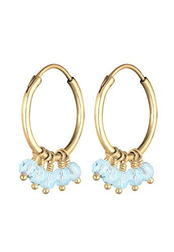 Elli dames hangende oorbellen verzilverd kristal 0303260118