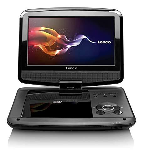 Lenco draagbare DVD-speler DVP-9413 22,9 cm (9 inch) DVB-T2, 12V auto-adapter, hoofdsteunhouder, USB, SD, zwart
