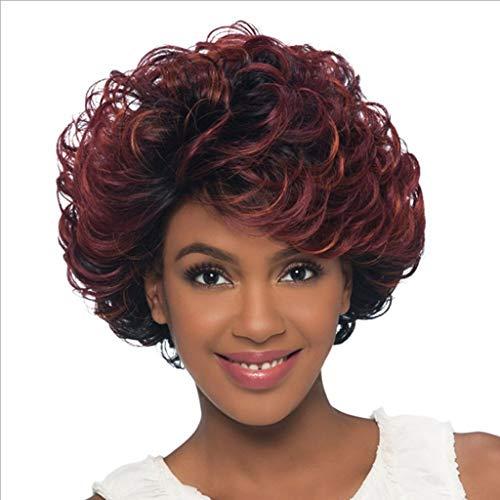 Perruque pour Femmes, Rouge Court Synthétique Moelleux Bouclés Sexy Cheveux Plein De pour La Tenue de Fantaisie