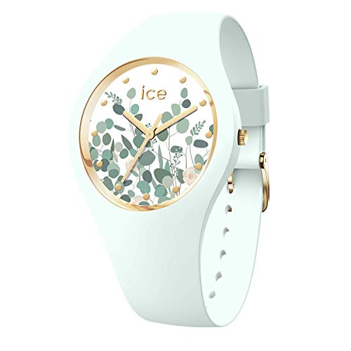 Ice-Watch - Ice Flower Mint garden - Grüne Damenuhr mit Silikonarmband - 017581 (Medium)