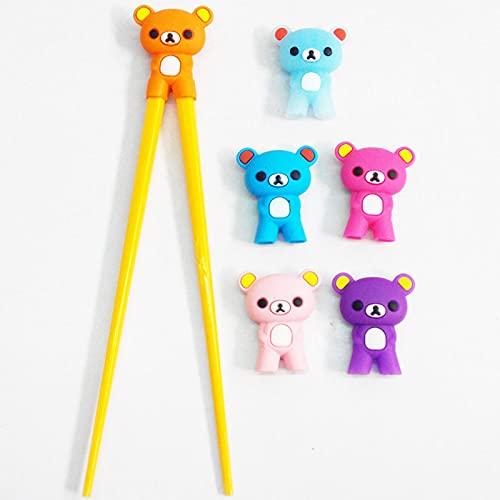 NGLSCXR Capacitadores de Entrenamiento, Multicolor Lindo Oso Panda Gato, niños Entrenamiento chopticks Conjunto, Palillos Chinos aprendiendo Regalo (Color : 2)