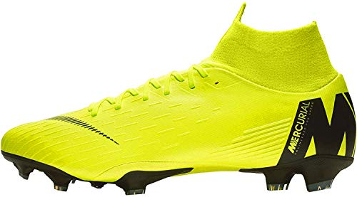 Nike Mercurial Vapor XII Pro FG, Zapatillas de Fútbol Hombre, Gris (Wolf Grey/Lt Crimson-Pure Plat 060), 38.5 EU