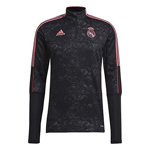Adidas 2020-21 Real Madrid AOP Training Top - Black-Pink 2XL