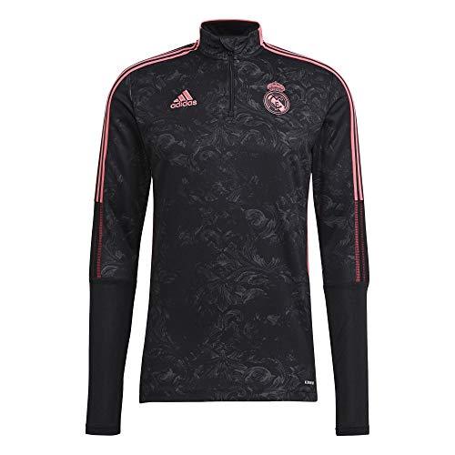 Adidas 2020-21 Real Madrid AOP Training Top - Black-Pink L