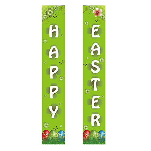 Moent Easter's Day 2021 Decoration Banner Rabbit Garland Party Door Decorations,Creative Festival Arts and Crafts Ornaments Party Celebrations Home Decor(MulticolorA,
