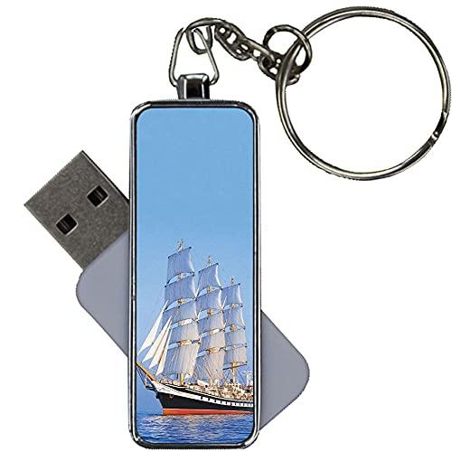 Chicos Impresión Sailboat Bonito Metal Compatible para USB Disk Capacity 8Gb