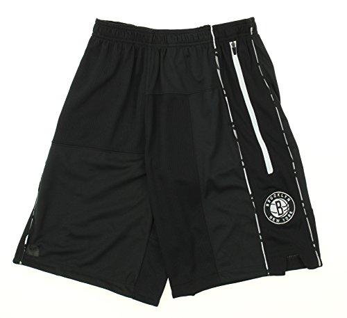 Zipway Brooklyn Nets NBA Big Boys Youth Basketball Shorts, Black (Large (14-16))