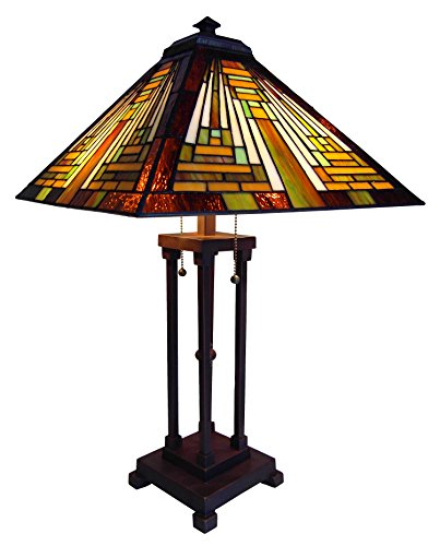 Check price chloe lighting ch231118g tl2 tiffany style mission 2 tag where to buy chloe lighting ch231118g tl2 tiffany style mission 2 light table lamp with 16 inch shadechloe lighting ch231118g tl2 tiffany style mozeypictures Image collections