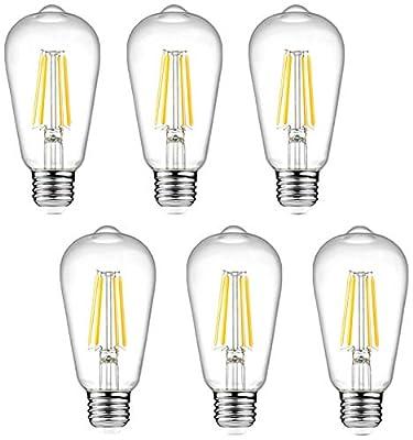 Ascher 6 Packs st58 80cri led Bulb